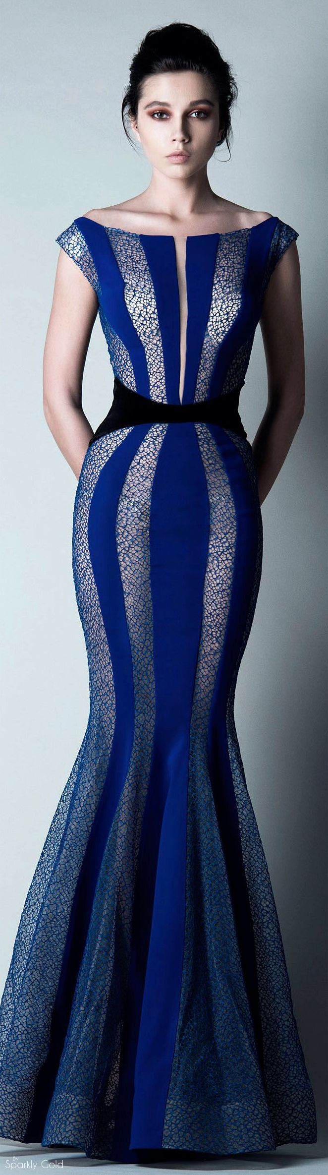 "Saiid Kobeisy Fall 2015 RTW...turn this from a ""mermaid"" style to a chic pencil dress and this is a winner"