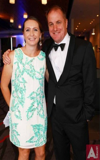 BNZ Newmarket Business #Excellence #Awards at Eden park, L to R, Bernie Paterson and Ashley Church