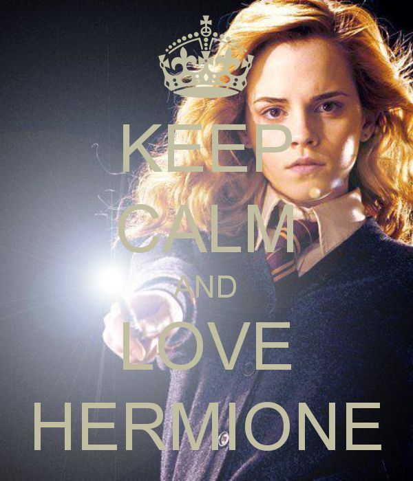 keep calm and love hermione