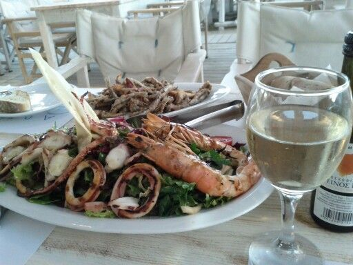 #mykonos #seafood #fresh #greekWine #localProducts #greece  #greekIsland #greekFood