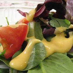 Molho de salada com mel e mostarda