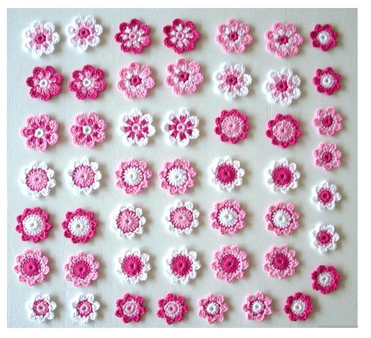 Bloemetjes gesorteerd / roze-fuchia-wit