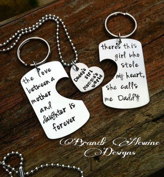 WANT!!!!!! Personalized Hand Stamped daddy daughter by BrandiAlewineDesigns