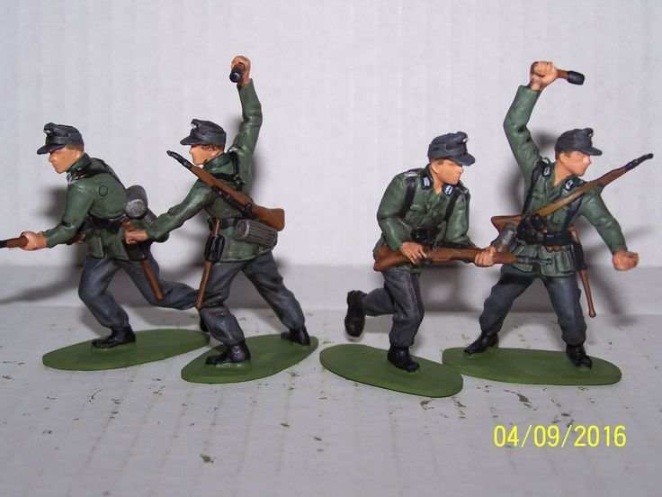 AIRFIX 1 32 SCALE GERMAN INFANTRY X 14 PAINTED | eBay