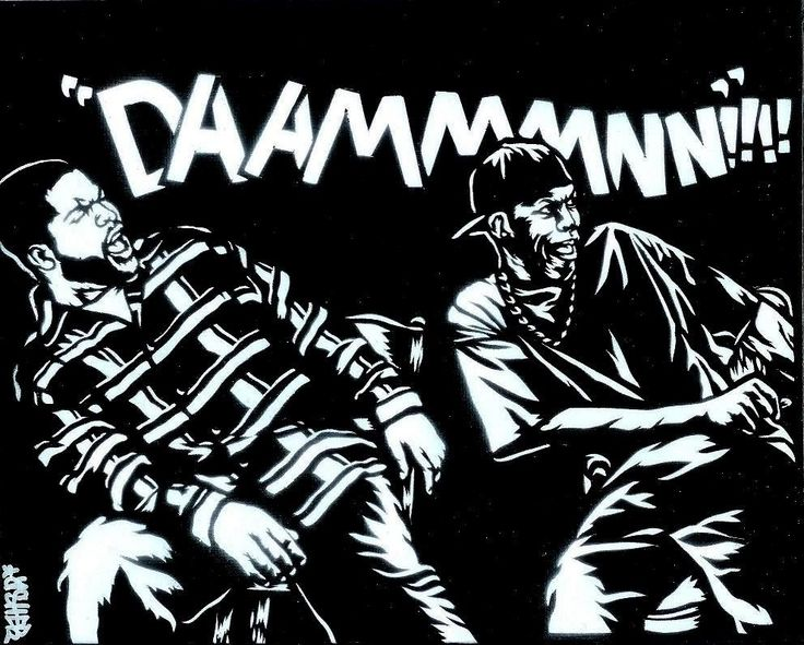 8x10 Friday (Ice Cube/Craig, Chris Tucker/Smokey) Airbrush Stencil Graffiti Art. $45.00, via Etsy.