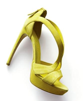 Alexander McQueen Yellow Cutout Sandals-Spring & Summer Go-tos