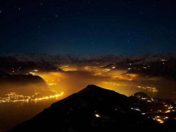 Lake Como at night. So, so romantic. Memories anyone?