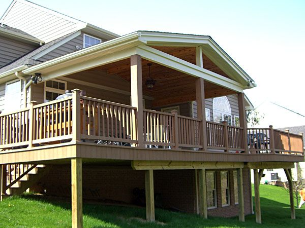 Project For Next Summer...except Ours Will Also Function As A Carport.  Covered Deck DesignsDeck ...