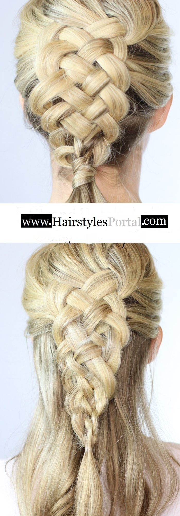 A 5 strand dutch braid on yourself