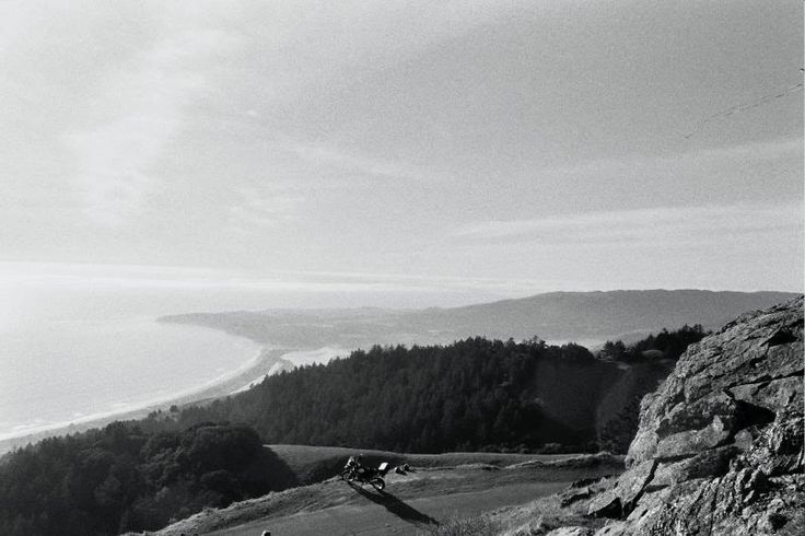 View over the Pacific Ocean from the Marin Headlands, California, USA