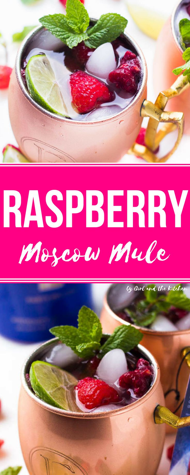 Meet a fruity and refreshing twist on the classic Moscow Mule cocktail! Full of raspberries and fresh mint