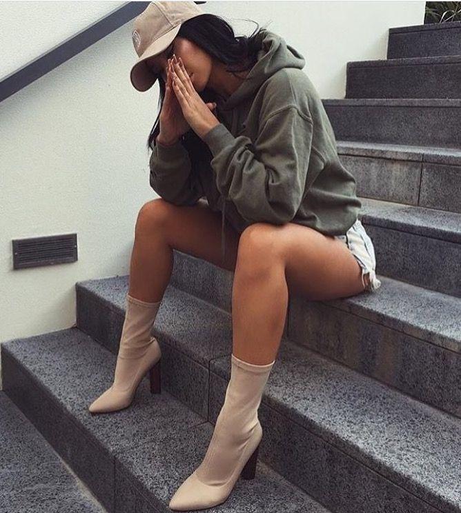 87f960346ee Street fashion ❤ Sock boots❤
