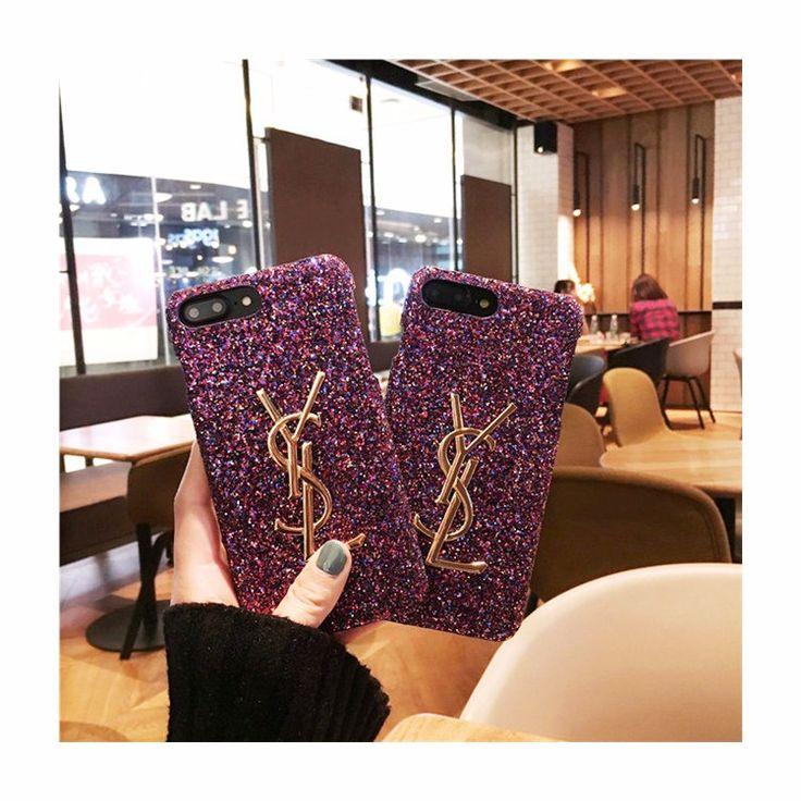 ブランドイヴサンローラン iphone7/iphone8ケース ジャケット iphone6s/iphone7plusケース パープル 人気 お洒落 女性向け