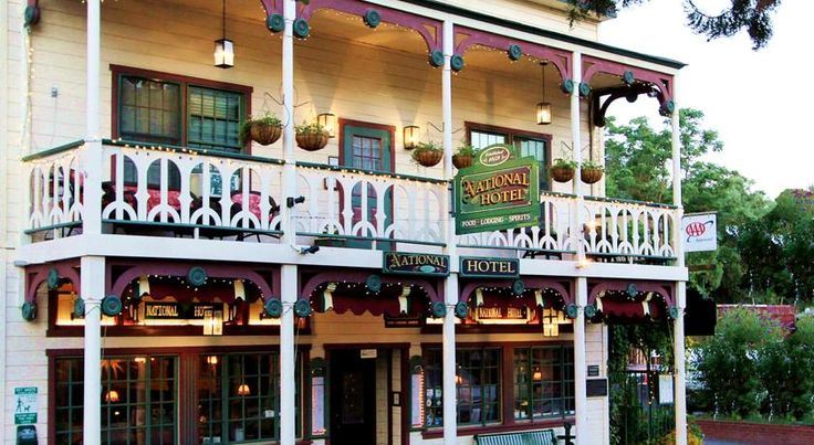 Historic National Hotel & Restaurant Jamestown Built in 1859, this historic Jamestown hotel has its own house ghost and features an on-site restaurant and bar. Rooms include antique furniture and Yosemite National Park is 24 miles away.