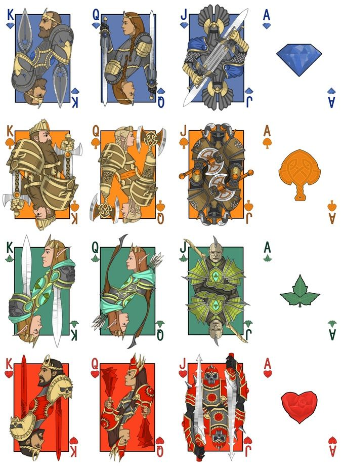 Feature; Kingdoms of Erden: Fantasy Comic Playing Cards.  On Kickstarter