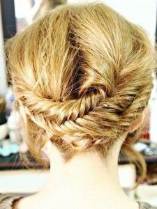 Braided casual hairstyle