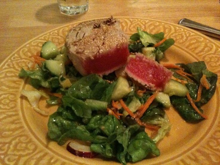 Sesame Crusted Blackfin Tuna!  Yes, I caught it:)