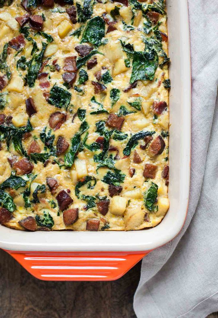 Breakfast Casserole with Bacon, Sausage, Sweet Potato and Kale | 25+ Whole30 Breakfast Casseroles