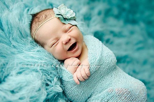 Smile Smile SmileBaby Blue, Newborns Photos, Baby Girls Pics, Happy Baby, Flower Headbands, Baby Couture, New Baby, Green Flower, Baby Photography