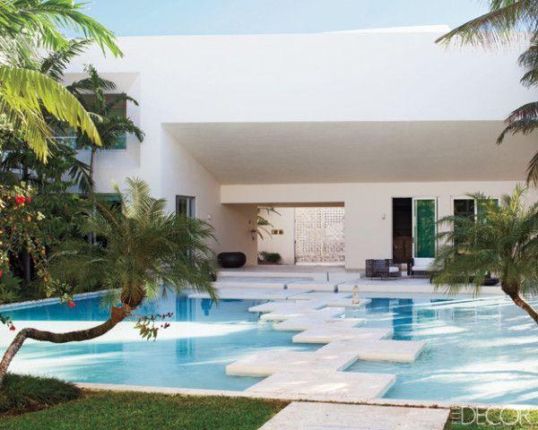 This front porch: Elle Decor, Bays Miami, Beaches House, Dreams House, Step Stones, Michael Bays, Miami Beaches, Outdoor Spaces, Miami Home