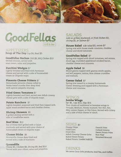 Hungry?  Check our menu and find the solution!  Goodfella's Grill and Bar is an American restaurant located in Lexington, SC that carries everything from burgers to wings to choice cut steaks and even nightly features! Call (803) 951-4663 or visit https://www.facebook.com/goodfellasgandb for more information!