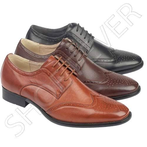 MENS SMART SHOES WEDDING FORMAL OFFICE WORK EVENING DRESS PARTY BROGUE SHOE SIZE