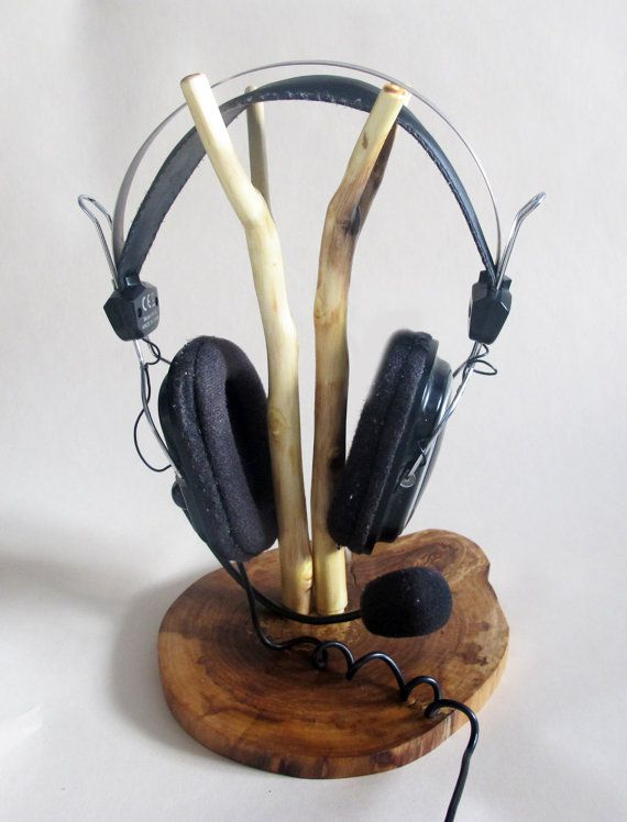1000 images about headphone stand on pinterest - Wooden headphone holder ...