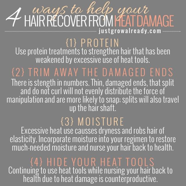 4 Ways To Help Your Hair Recover From Heat Damage by Just Grow Already blog