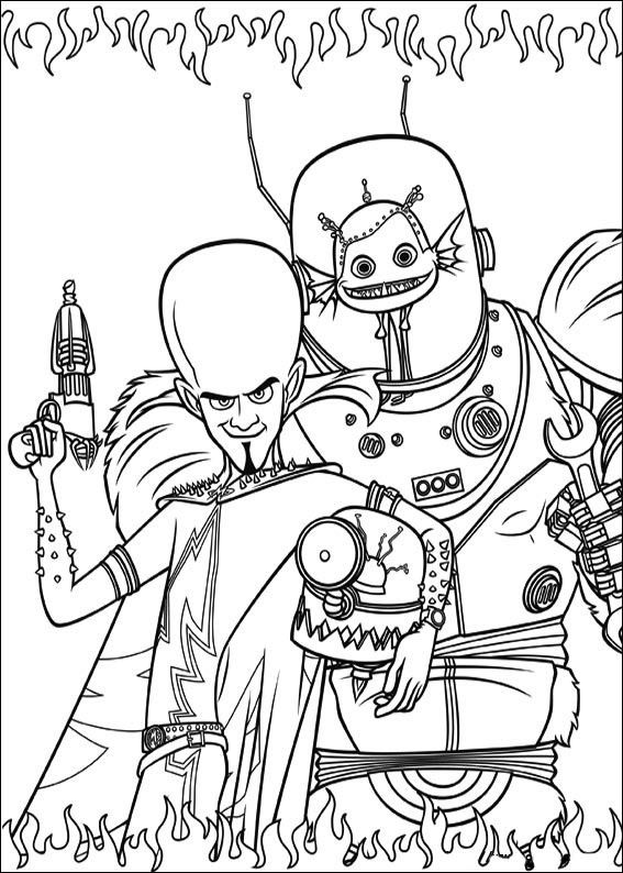 Megamind Coloring Pages 1 Coloring Pages Online Coloring Pages