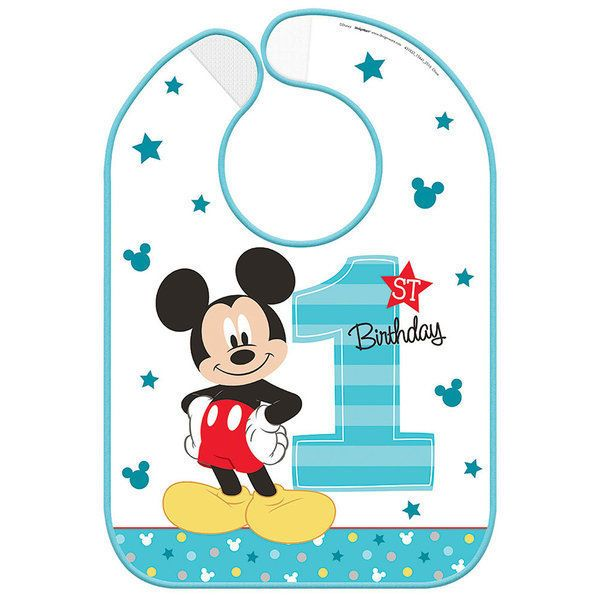 Disney Mickey Mouse First / 1st Birthday Party Plastic Bib Decoration | Home, Furniture & DIY, Wedding Supplies, Cards & Invitations | eBay!