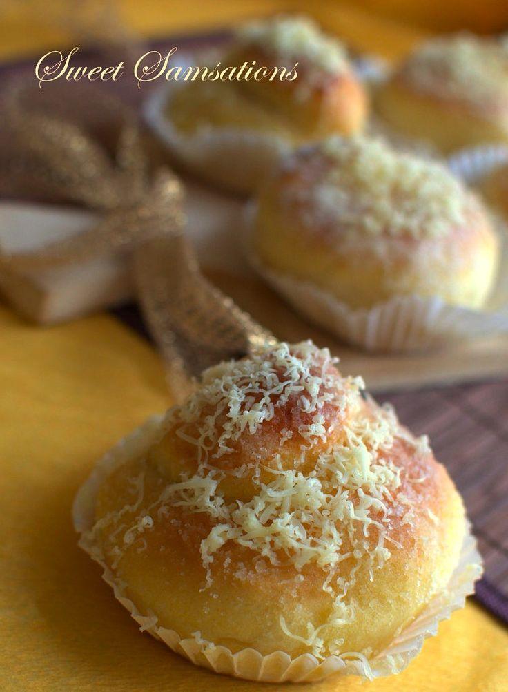 Ensaymada: makes 8 buns; adapted from Goldilocks Bake Book by Milagros Leelin Yee & Clarita Leelin Go