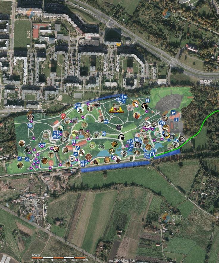 Czech Republic Plzeň Zoo Nice Zoo with Dinopark and Botanic garden.