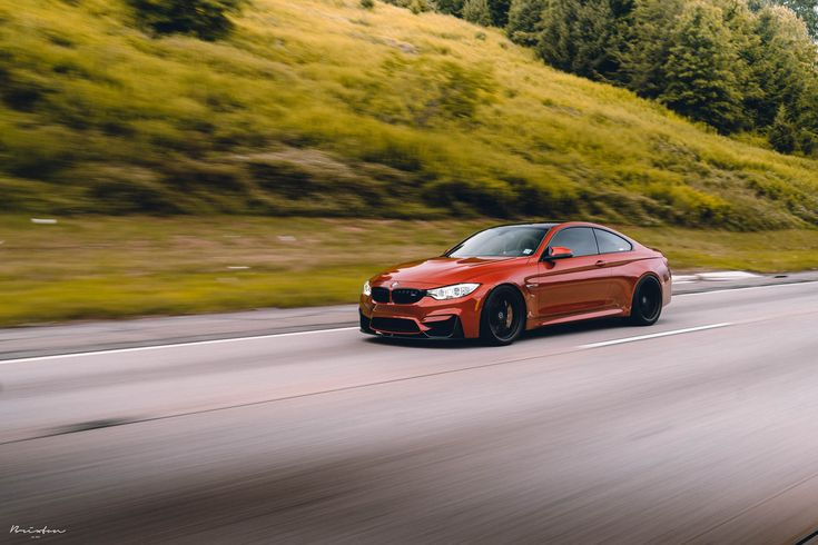 "Sakhir Orange BMW M4 F82 on 20"" Brixton Forged PF1 Ultrasport+ forged wheels - 1-piece concave forged wheels fine texture odb"