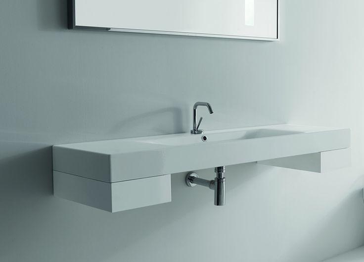 Ento design waschtisch mit ablagefl chen badkeramik shop for Design waschtisch
