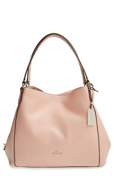 COACH 'Edie' Pebbled Leather Shoulder Bag