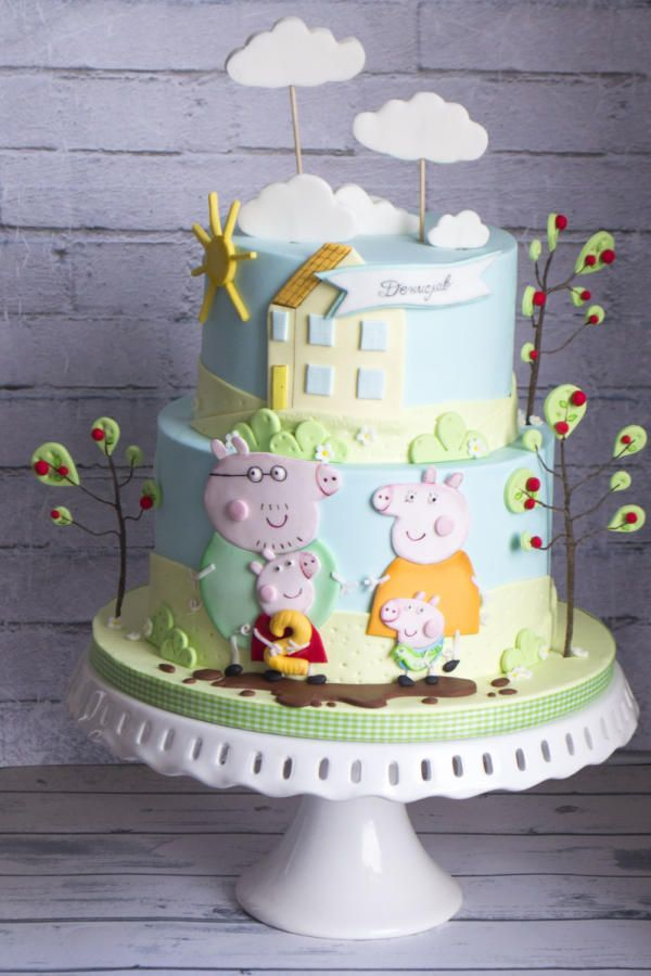 Peppa Pig Cake by Vanilla & Me