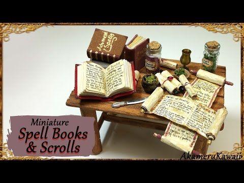 Miniature Scrolls & Spell Books Tutorial