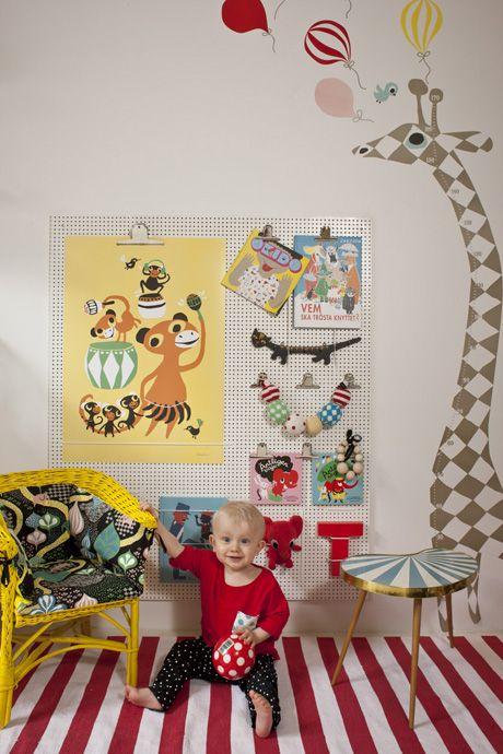 Färgglatt och kreativt barnrum - Family Living