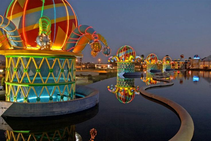 The beautiful Carnival City grounds.