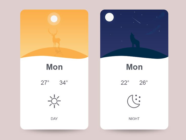 Weather App Concept by Arslan Ali