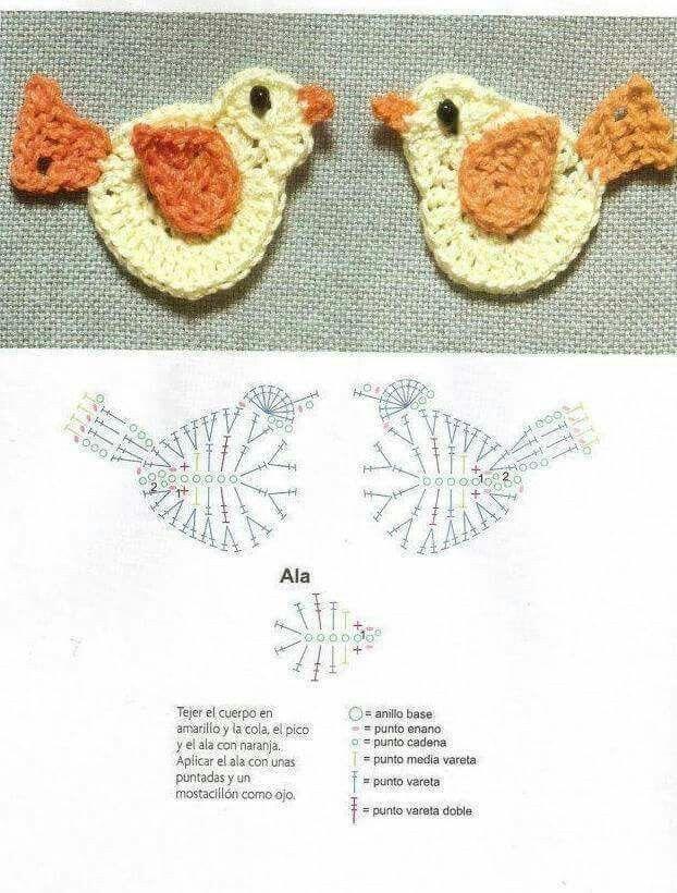 crochet birds pattern
