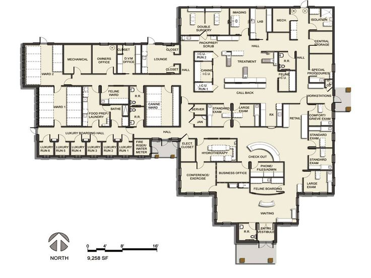 Floor plan 2013 veterinary hospital of the year for Floor plans canada