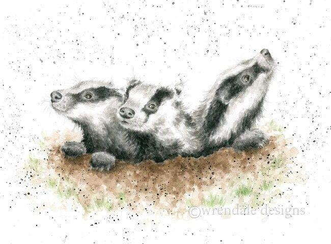 Badgers - wrendale designs