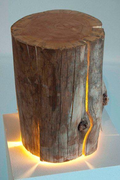Cracked Log Lamp by Duncan Meerding at 146 Art Space