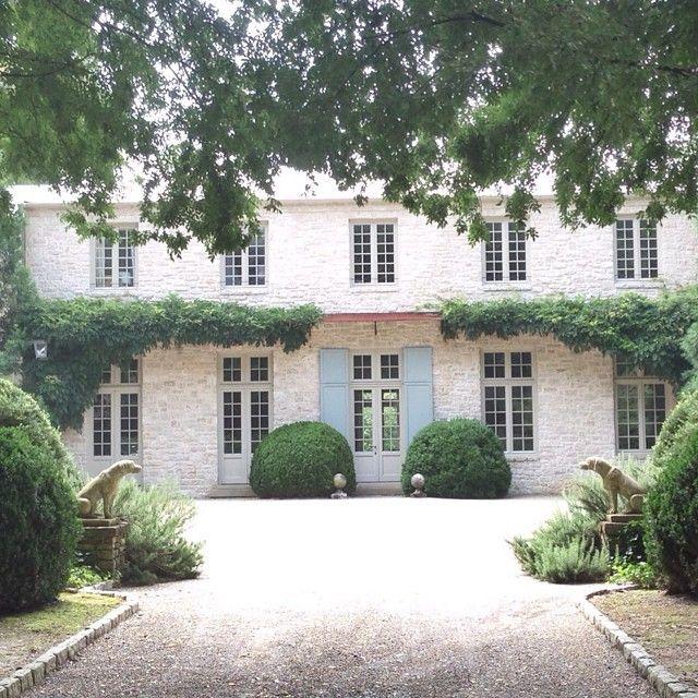 French garden entrance