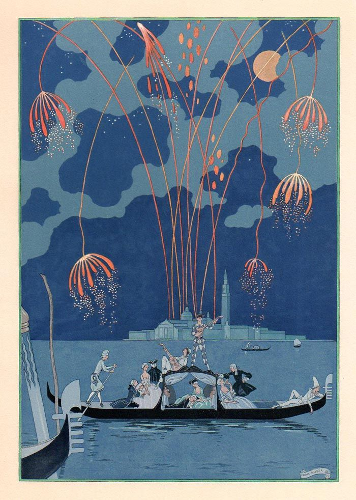 :: Les Fêtes Galantes de Paul Verlaine, illustrations de George Barbier, 1928 ::