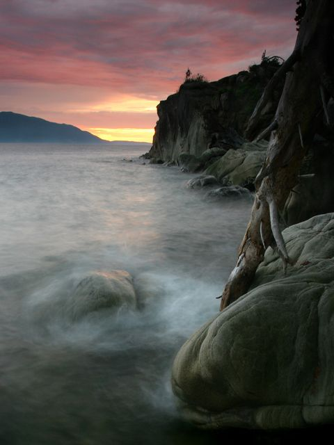 Larrabee State Park, a Washington State Park located nearby Anacortes, Bellingham and Burlington