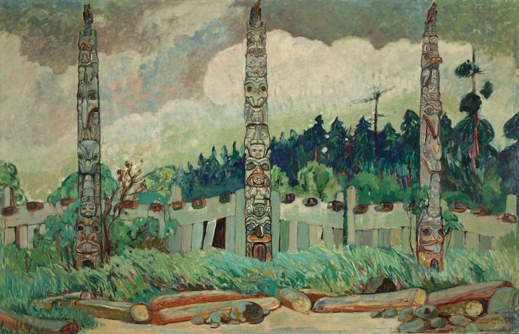 Emily Carr (1871-1945), Canadian / Tanoo, Queen Charlotte Island, BC, 1913 / Royal BC Museum