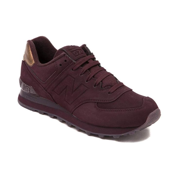 Womens New Balance 574 Athletic Shoe Burgundy & Gold