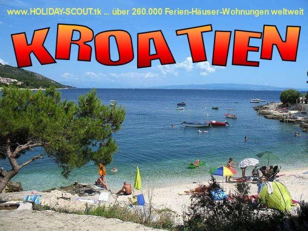 KROATIEN Trogir Ferien-Wohnungen mit Pool und Meerblick